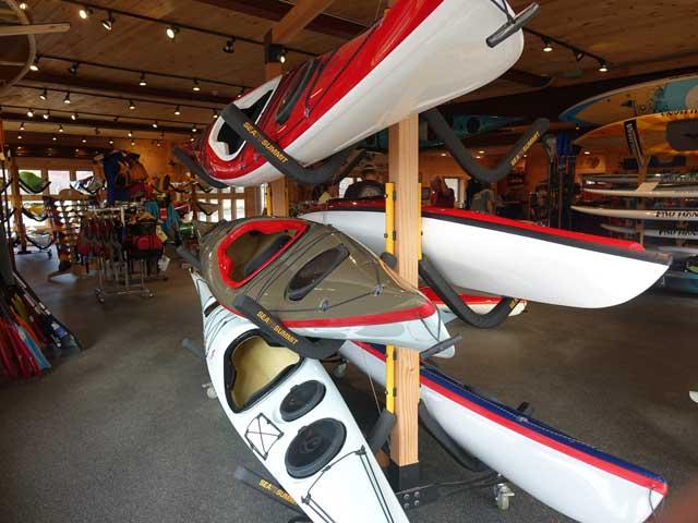 Lincoln Kayaks on Newbury Showroom Floor