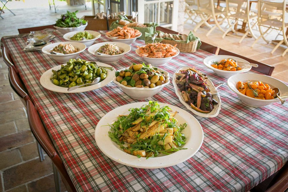 Farm-to-table private chef lunch