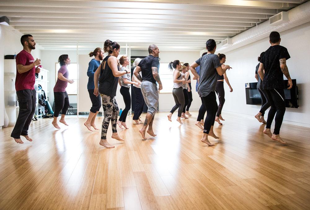 Recent movement workshop with Tatiana and Benjamin