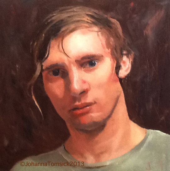 Johanna's portrait of her brother in oil.