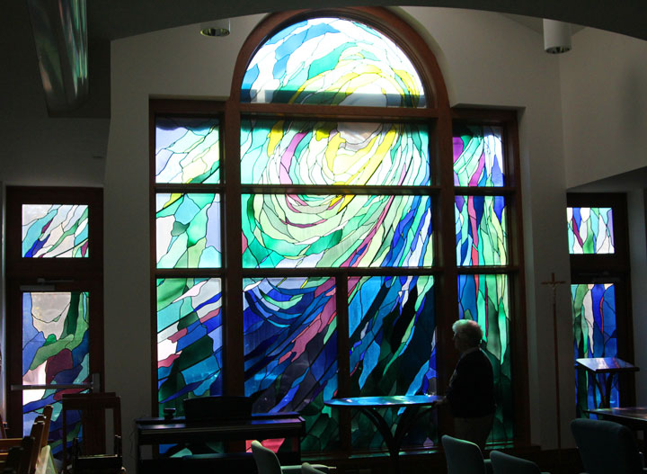 Generative Love, stained glass windows at Ursuline College Chapel