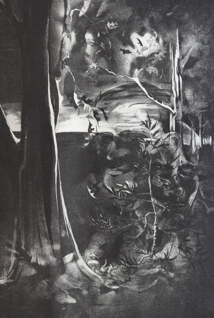 Autumn of Maturity, etching, aquatint