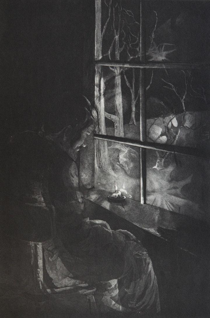 Night of Life, etching, aquatint