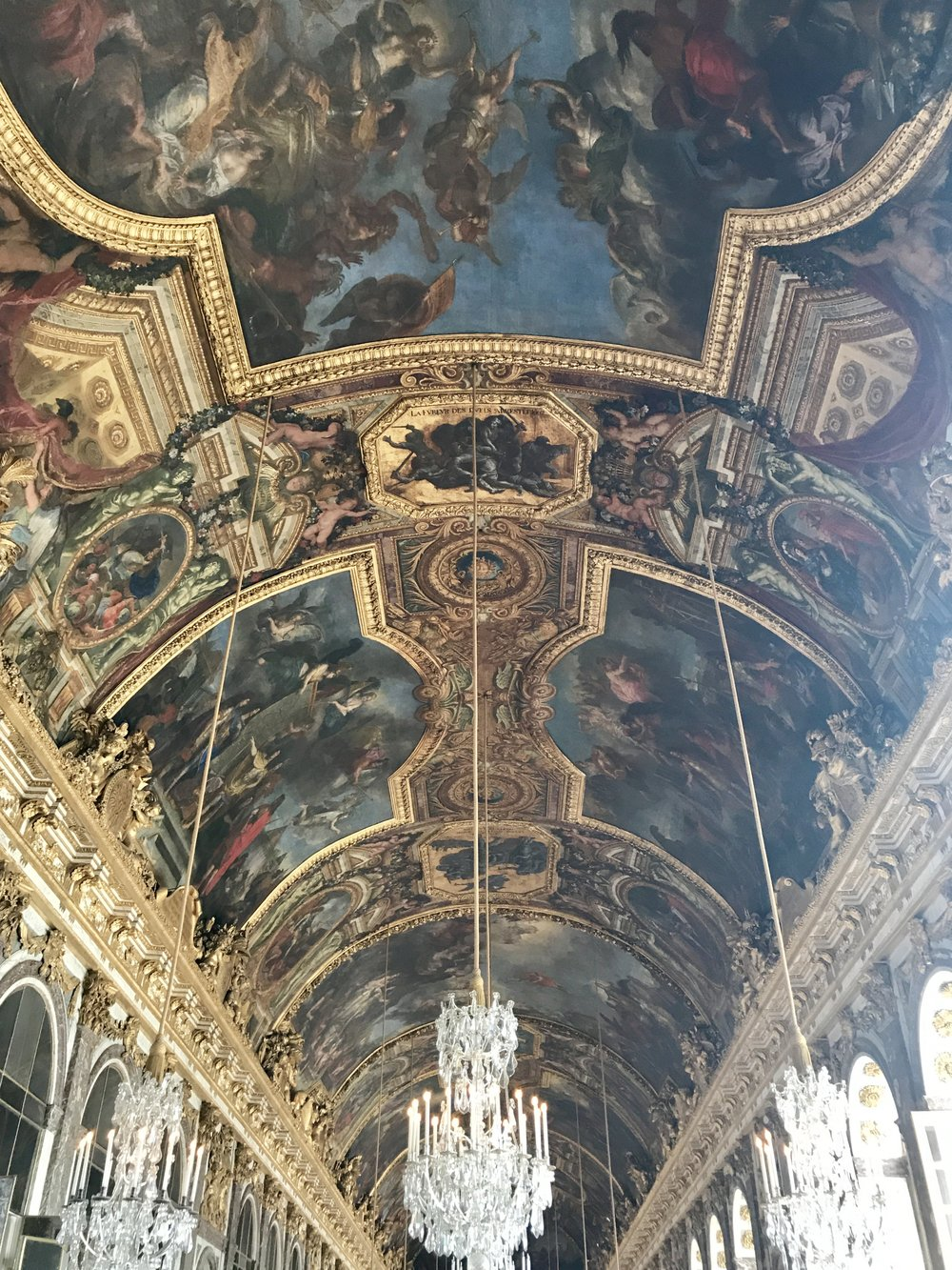 Hall of Mirrors at Versailles Palace. You can use this image to connect to the energy of abundance. It's all around us!