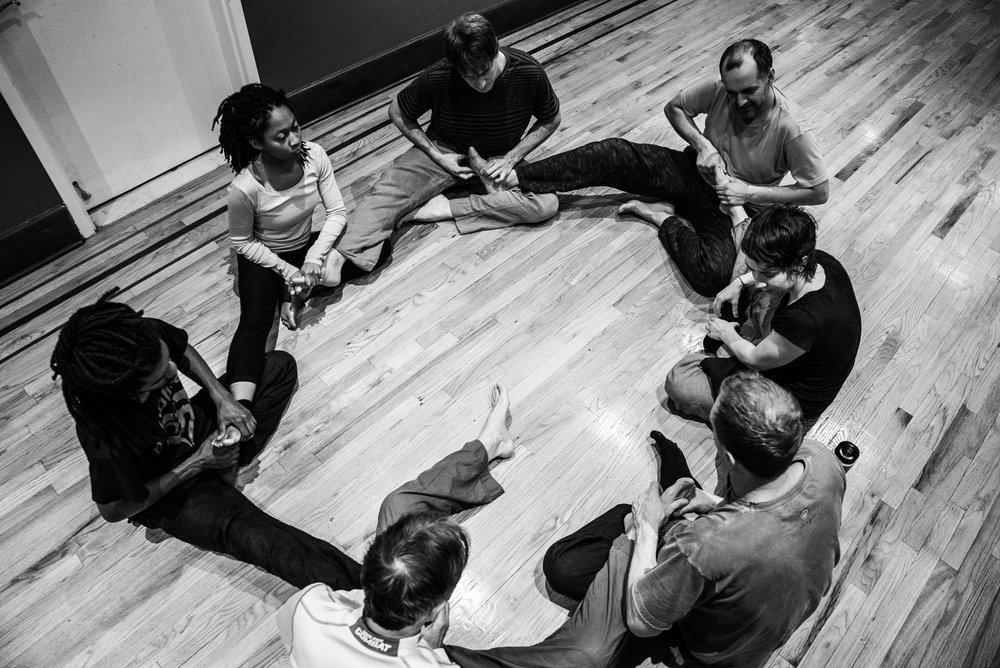 January 20, 2015, Jesse's weekly CI class,Bhakti Center, NYC. Photo by Bryan Edward.