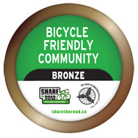 Kingston won Bronze recognition as a Bike Friendly community in 2012