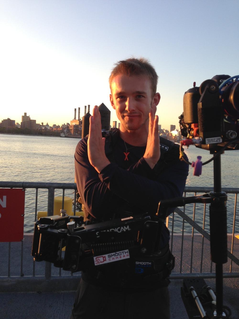 """From """"Dance Like A White Girl"""" filming crew, Kyle is doing the white girl sign lmao  #DanceLikeAWhiteGirl"""