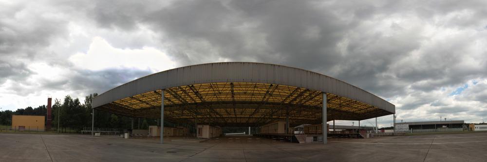Die Passkontroll-Halle in Marienborn