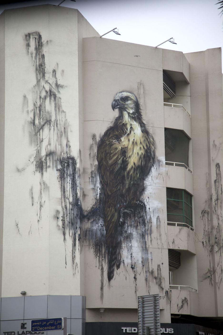 Wandgestaltung in einem Wohnviertel in Dubai