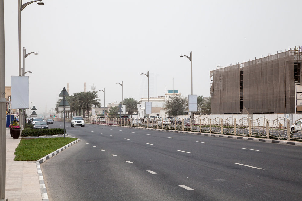 Burj al Arab im Nebel