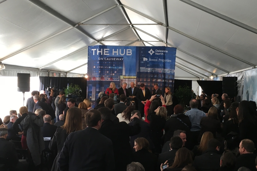 The groundbreaking of The Hub On Causeway podium phase, held in January 2016.