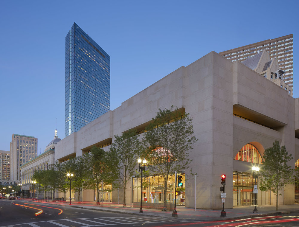 Exterior: Central Library Renovation Boston Public Library