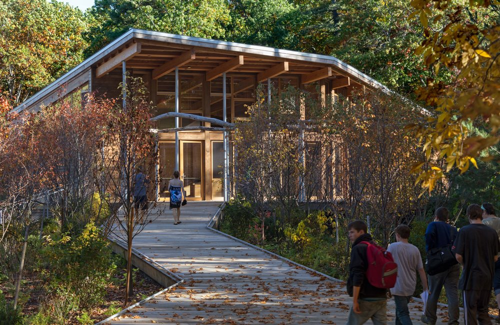 The net zero Walden Pond Visitor Center in Concord, MA. © Chuck Choi Architectural Photography
