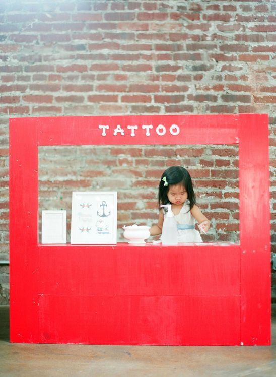 I love the Idea of a Temporary Tattoo Stand at a Party or Event!