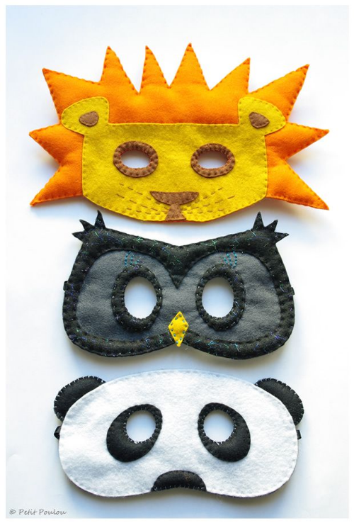 I will be spending an afternoon soon crafting and making a mask with my favorite little guy.  I love the Lion one and I know he will too- wish us luck!  These instructions are in French, from Petit Poulou, but there are pictures to guide you in the right direction.