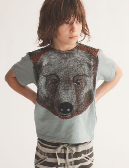 This  Soft Gallery Spectacular Oversize Bear Graphic Tee  has Textured Hand Embroidery at the Ears & Chin making it a true work of art. ThisTee is the Creme de la Creme, and will surely make your little boy or girl the most fashionable kid on the block.