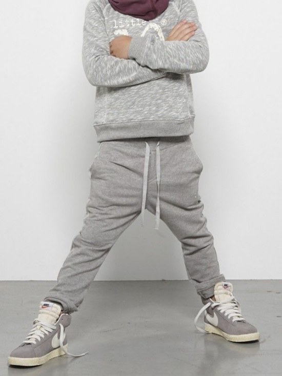 Classic Grey Heathered Sweatpants are updated with a Slouchy Fit