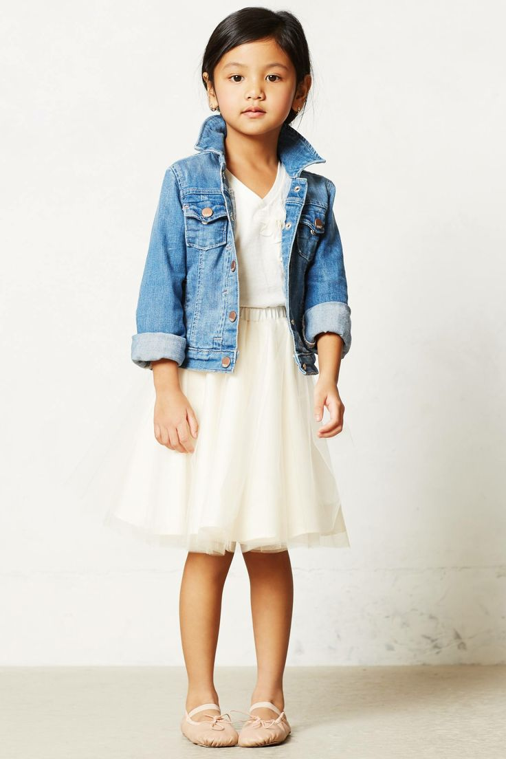 Throw a Denim Jacket over your Little Darlings Tee with a Tutu, & Ballet Flats… Tutu Cute!