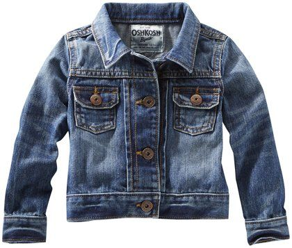 This  OshKosh B'Gosh  Denim Jacket is the perfect UniSex Option for only $23.99. This is an amazing price for such a versatile Denim Jacket.