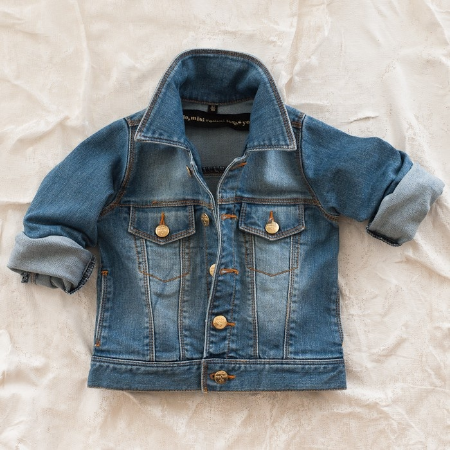 Another Brand I Love is Mini Rodini (Popular with Celebrity Moms and their Kids),  if you want your Kid to look like a true Mini Rock Star this is the Denim Jacket for you. This Denim Jacket from Mini Rodini has an authentic Vintage Wash and when you buy this stylish Mini Rodini Classic Denim Jacket you get an Iron-On-Patch.  Iron-on-Patches on Denim are very cool; your child can express his or her Loves, and the Patch Trend goes beyond Denim Jeans to Denim Jackets as well (DKNY had a patched Denim Jacket on their runway for Spring).