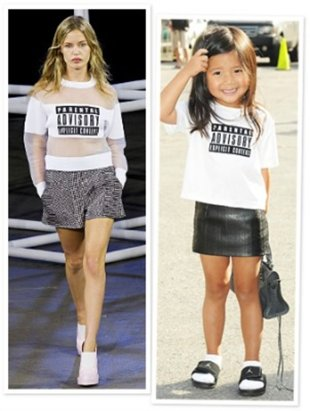 "Alexander Wang's Spring 2014 Runway & his Niece Aila's ""Mini Me"" Look 