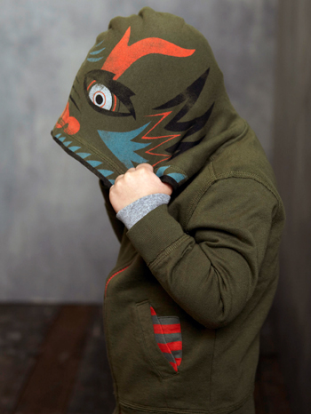 This  Tea Collection Daring Dragon Hoodie  is the one my son has, and it's his favorite Hoodie. In China, a pixu is a dragon-like creature that wards off evil, and when your Little Guy flips up his hood in this adorable Character Hoodie he will ward off the cold and look cool. And for extra cuteness, it has a striped lined hood and pockets.