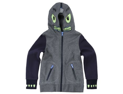 This  Stella McCartney Bandit Hoodie is sure to be one your son will Adore!  In keeping with the brand's playful aesthetic, this Character Hoodie features a Mexican wrestler character printed on the hood with quirky mesh eye holes and glow in the dark print!  This was the most popular Character Hoodie this fall (this is one of the colors Flynn Bloom has) and it is sold out Almost everywhere, but I found it on a Dutch website, Orange Mayonnaise, and it is on Sale for $70.73 :-)