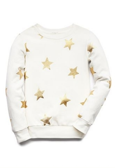 This  Shooting Star Sweatshirt  from Forever 21 is not only adorable for girls with its metallic star print, but it is also only $8.99! I love this Sweatshirt sooo much I wish it came in adult sizes!