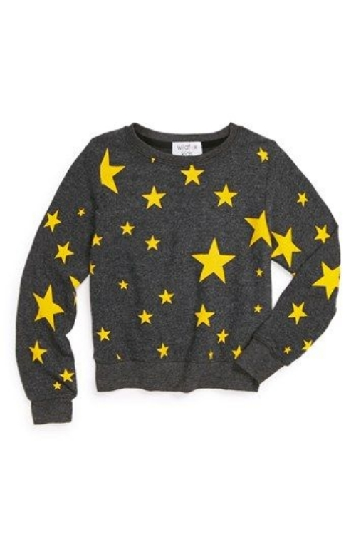 This Wildfox  'Disco Stars' Sweatshirt has an Allover Bright Star Print which adds a fun, graphic appeal to a cozy sweatshirt. This Sweatshirt also comes in Women Sizes at  Shopbop ,one of my favorite sites for shopping (for myself)!Since I don't have a daughter to get this Allover Star Printed Sweatshirt for, I just may have to get it for myself!