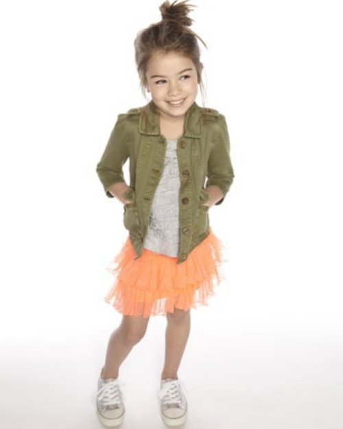An Army Jacket is versatile and looks Tutu Cute mixed and matched with something Girly!