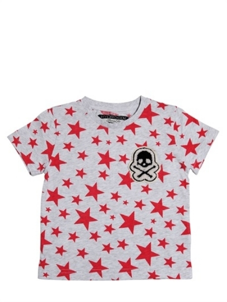 This  Hydrogen Kid Star Print T-Shirt  is not only Cute but also very Cool with a Skull Patch on the left chest. I love that this Allover Star Print T-shirt is a little bit preppy with a mix of a little bit edgy- it makes for the perfect combination of Cool!