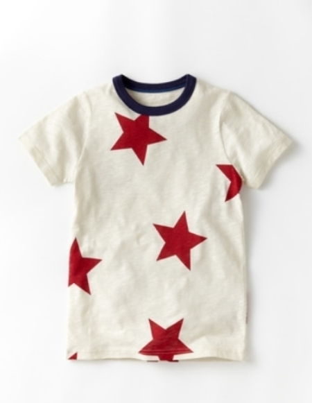 This Star Printed T-Shirt is a classic cotton T-Shirt featuring a bold Allover Star Print.  This bold Star Print is sure to make your son stand out and show his love for Team U.S.A.