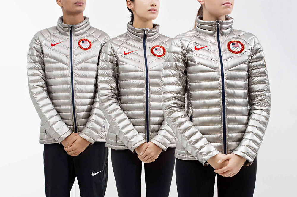The Nike Aeroloft 800 Summit Jacket will be worn by Team U.S.A. on the Medal Stand!