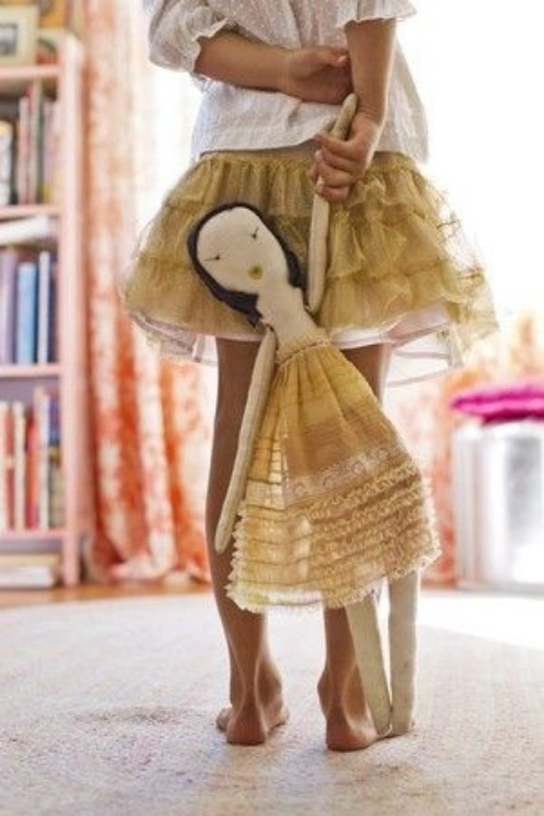Jess Brown Coco Rag Doll (the Doll from the book Kiki & Coco in Paris)