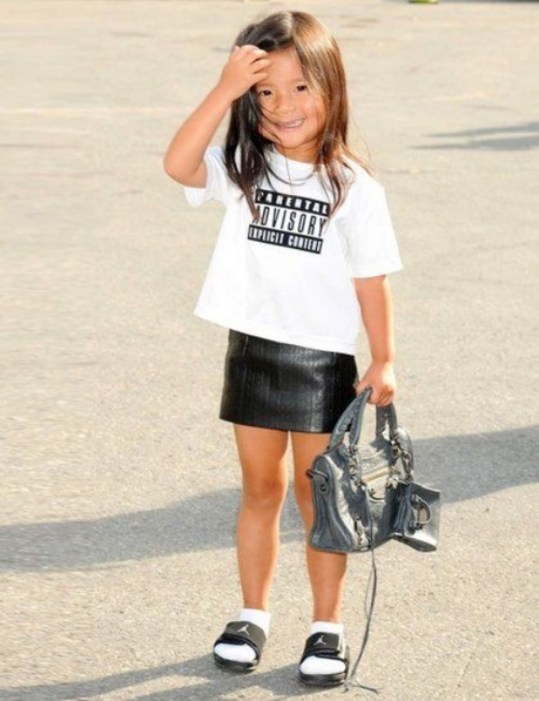 Fashion's Most Stylish Niece, Aila Wang, Wears Shower Slides!