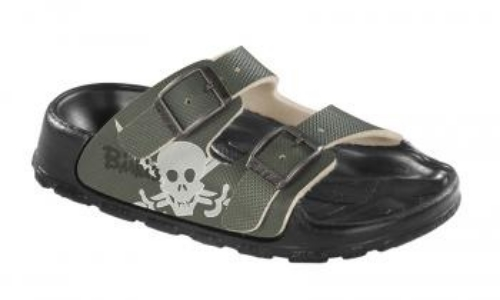 This Birki's HAITI KIDS ($49.95) with skull print are very cool and hip.  These are the Birkenstocks I want to buy my son!