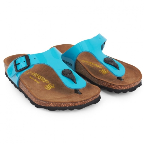 This Birkenstock GIZEH KIDS ($44.00) in Turquoise are the perfect pop of Patent Neon for your Little One this Spring/ Summer.  These are the Birkenstocks I wear, but in Black Patent, and I Love them, and I am sure your Little Darling will Love them Too!