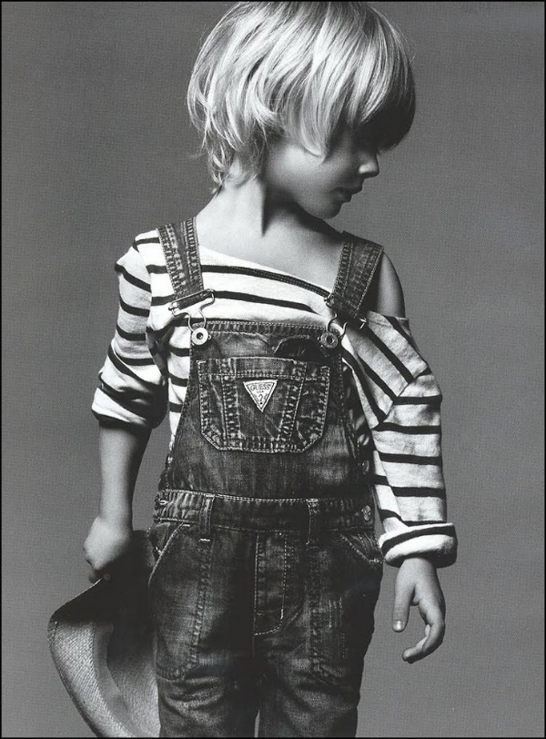 These Guess Overalls Look Cutest Styled with a Stripe T-Shirt!