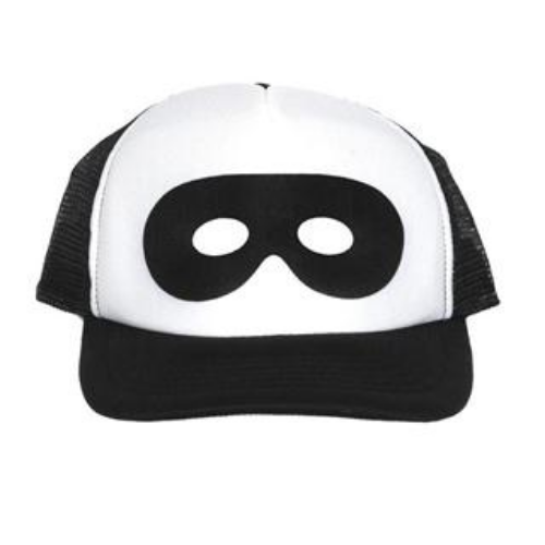 This  Beau Loves Superhero Cap  is Super cool with a Superhero Mask printed at the front of the Cap. Again Beau Loves clothes and accessories are Unisex and made to mix & match!