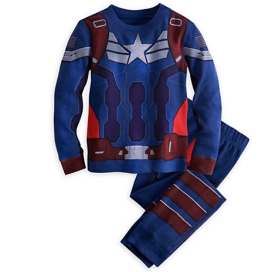 These  Disney Captain America PJsl  for Boys will have your little one dreaming of incredible action when he hits the hay in these Star-Spangled Captain America Deluxe PJ Pals. They are made of comfy cotton, and will ensure your Hero a fit sleep!