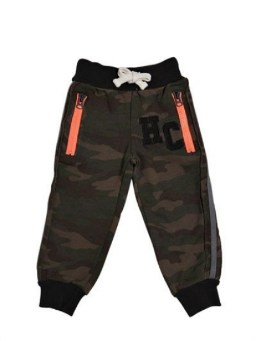 These HYDROGEN KID COTTON FLEECE JOGGING PANTS ($109.00) have elasticated waistband with adjustable internal button, fun contrasting zip pockets, contrasting fabric insert along sides, logo insert on front and on back panel, and are in a Cool Allover Camoflage Print.