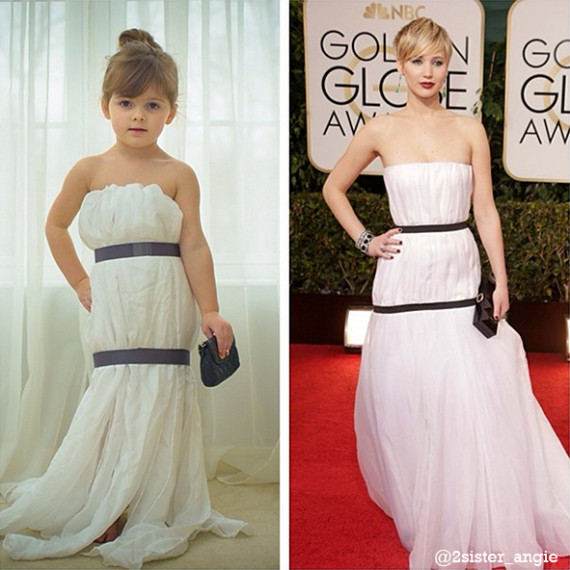 Mayhem's creation of Jennifer Lawrence in the Dior Haute Couturegown she wore to the 2014 Golden Globe Awards.