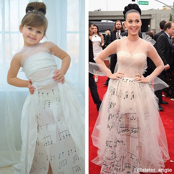 Mayhem's creation of Katy Perry in the Valentino Haute Couture musical gown she wore to the 2014 Grammy Awards.