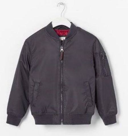This Zara BOMBER JACKET WITH POCKETS ($39.50) is a classic Bomber Jacket and though it is boys, it is just as cute for a girl... it looks like the one Aila Wang wore.