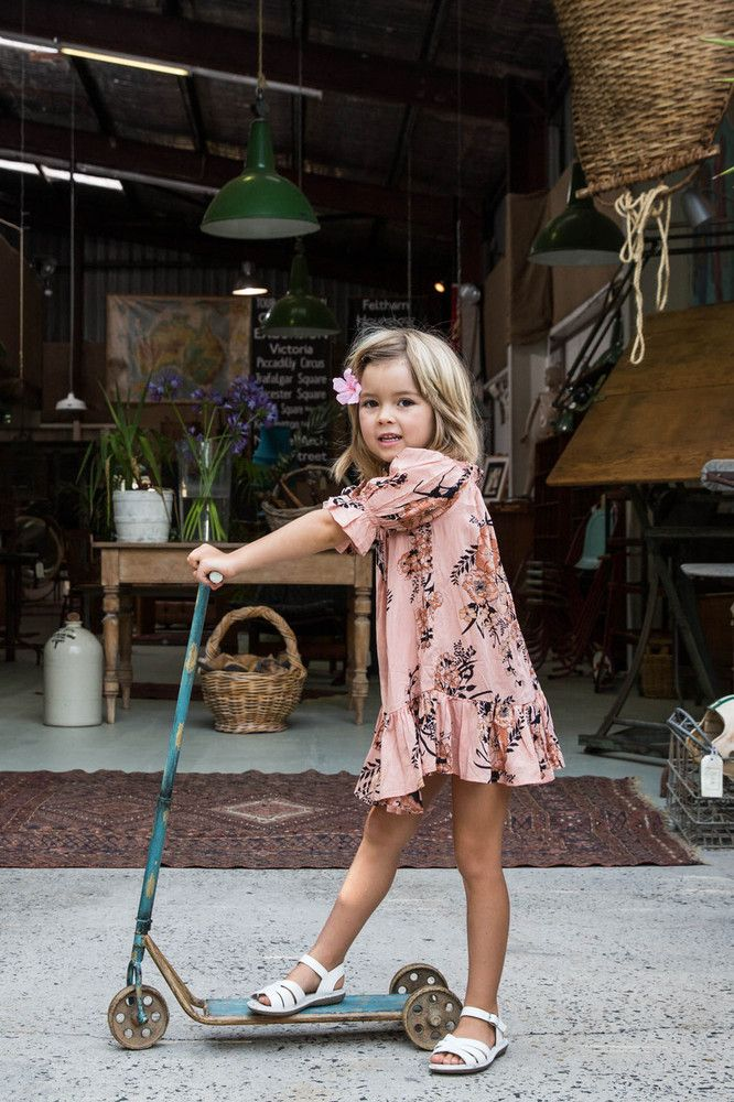 This Arnhem Child IMMY BELLE DRESS SAFFRON ($46.34) is a beautiful everyday summer dress- practical and easy to wear mixed with the perfect amount of frill for girly-gilrs in Arnhem's signature Saffron Floral print.