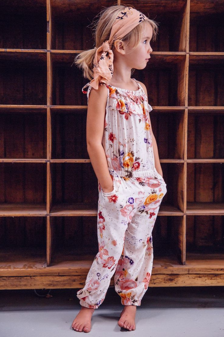 This Arnhem Child BIRDIE LONG PLAYSUIT AUTUMN ROSE ($46.34) is a key piece in the Mini Arnhem collection.  It is lightweight and floaty which is the perfect summer outfit for busy and active girly-girls in Arnhem's signature Autumn Rose print.