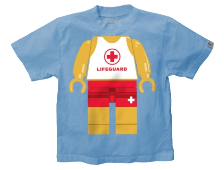 This  Dogwood Lifeguard Boys Tee  is 100% combed cotton for extra softness and comfort. Your little one will love to wear this Lego Lifeguard with his swim trunks at the beach or anytime he is day dreaming about being on a beach!