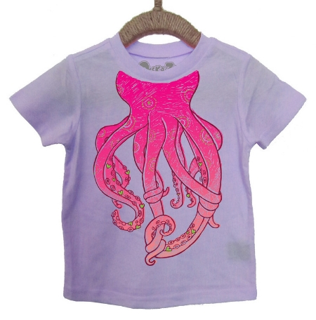 This  Peek-A-Zoo Lazy Octopus Tee  is a fun and cute educational & interactive kids T-Shirt.