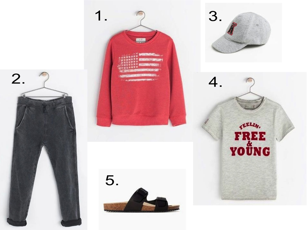 "These are also cool Slouchy Sweatpants, and they look extra cool worn with a Statement Graphic Tee, Star Graphic Sweatshirt, Baseball Cap, and Birkenstocks.  1.  FLAG SWEATSHIRT  | 2.  PLUSH TROUSERS  | 3.  ""K"" CAP  