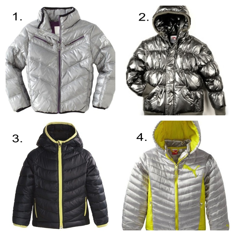 Since the Aeroloft 800 Summit Jacket is not available in kids sizes (and the womens & mens jackets are $450!), I found these 4 outerwear options for your Little Gold Medalist!  These are all functional, comfortable, and kid-approved! 1. Diesel Boys 8-20 Jivalty Jacket (I think a girl could wear this jacket!) $187.58   2. Appaman Puffy Coat- Unisex $110   3. Columbia Powder Lite Hybrid Puffer Jacket (girls but I think a boy can wear this jacket!) $49.95   4. Puma Girls 7-16 Big Quilted Princess Seam Puffer $39.99